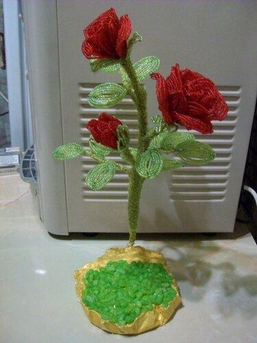 маленькие цветочки из бисера - Сделай сам!