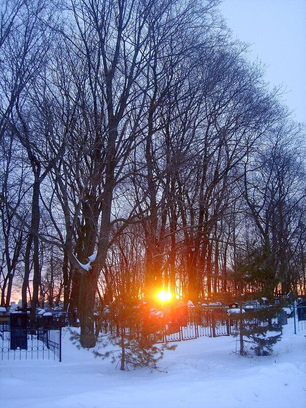 Зима-весна,с.Остров,восход