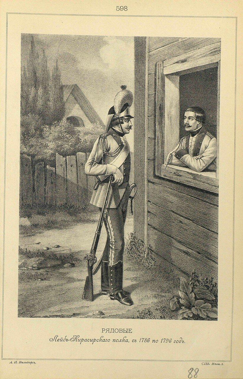 598. РЯДОВЫЕ Лейб-Кирасирского полка, с 1786 по 1796 год.
