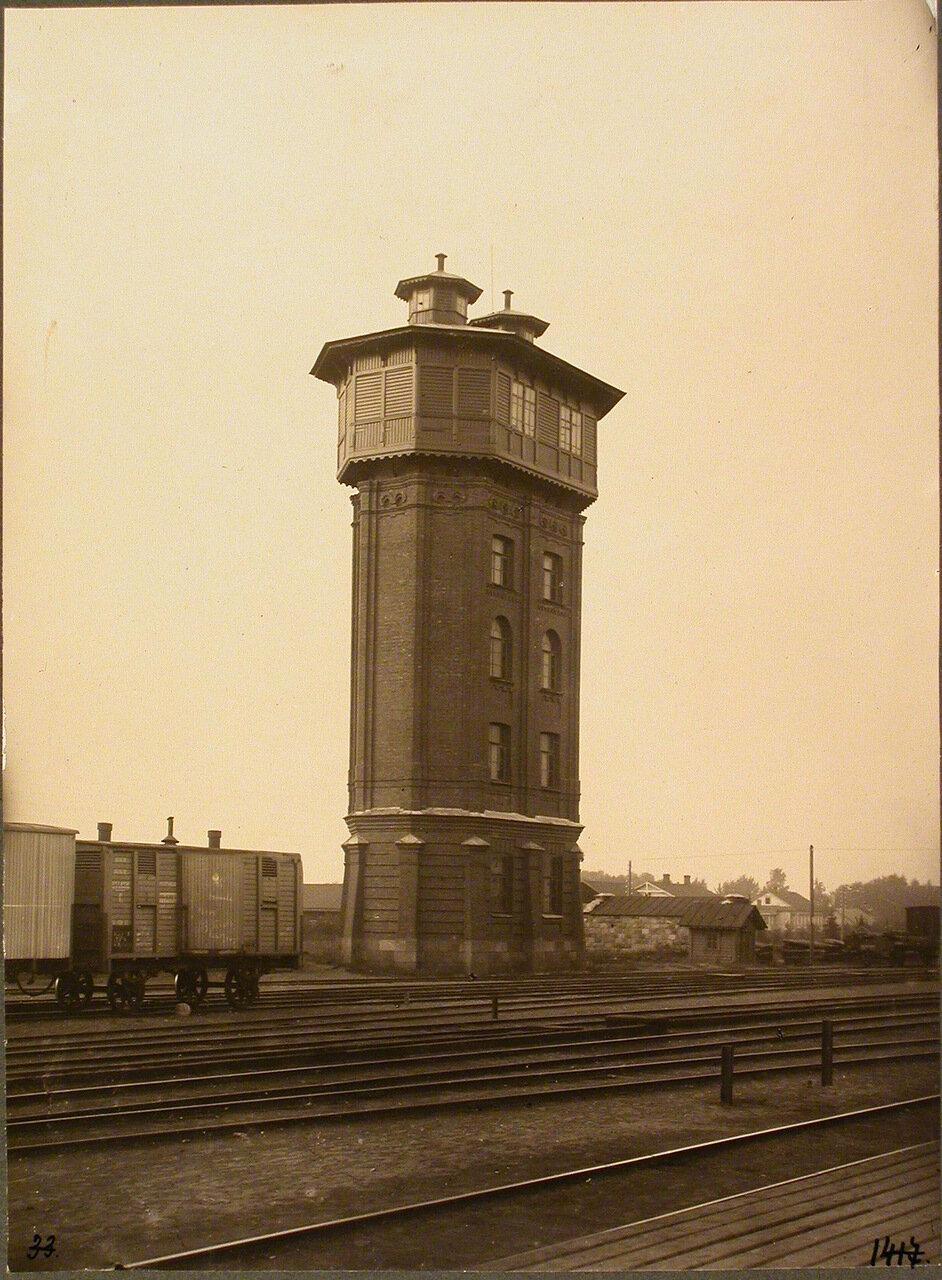 Псковская губерния. Псков. 257 верста. Вид на водонапорную башню у станции.