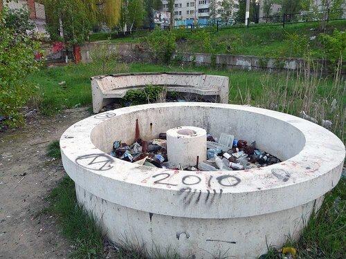 Заброшенный фонтан на ул. Садовой. фото SanchesS