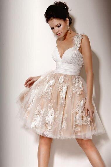 Модели коротки свадебных платьев фото
