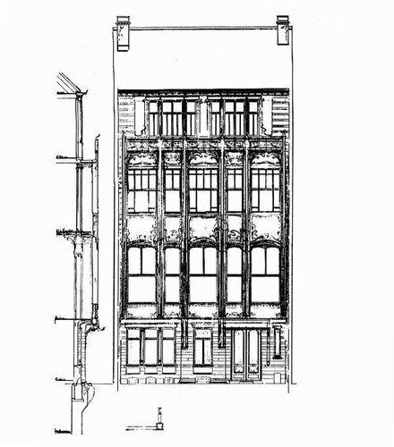 Отель van Eetvelde в Брюсселе, архитектор Виктор (Гектор) Гимар, фасад