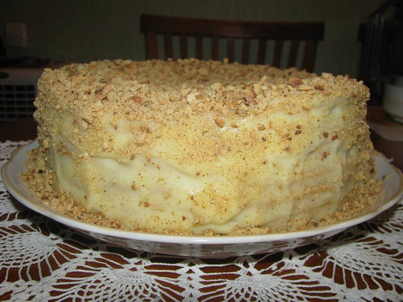 Торт домашний на сковороде