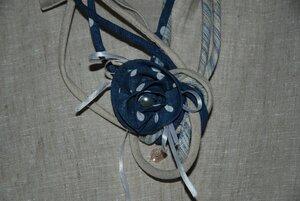 Текстильное колье