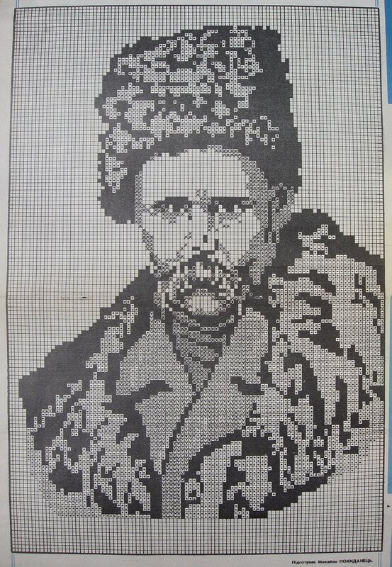 вышивка крестом портреты схемы