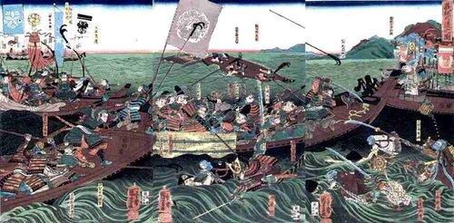 Сражение в мелководном проливе при Ясима.