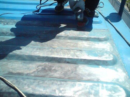 Зачистка поверхности металлоконструкции