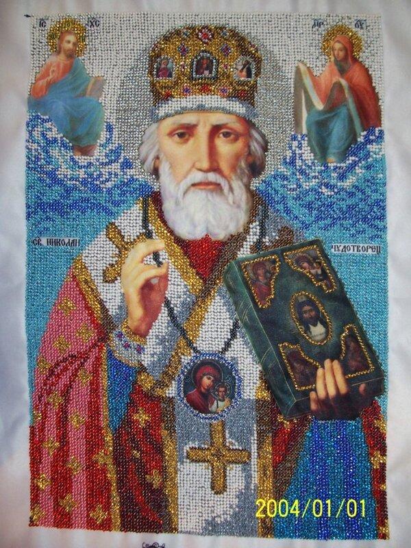 Интернет-магазин.  Вышиваем Бисером - Святитель Николай архиепископ Мир Ликийских, Чудотворец L-41.
