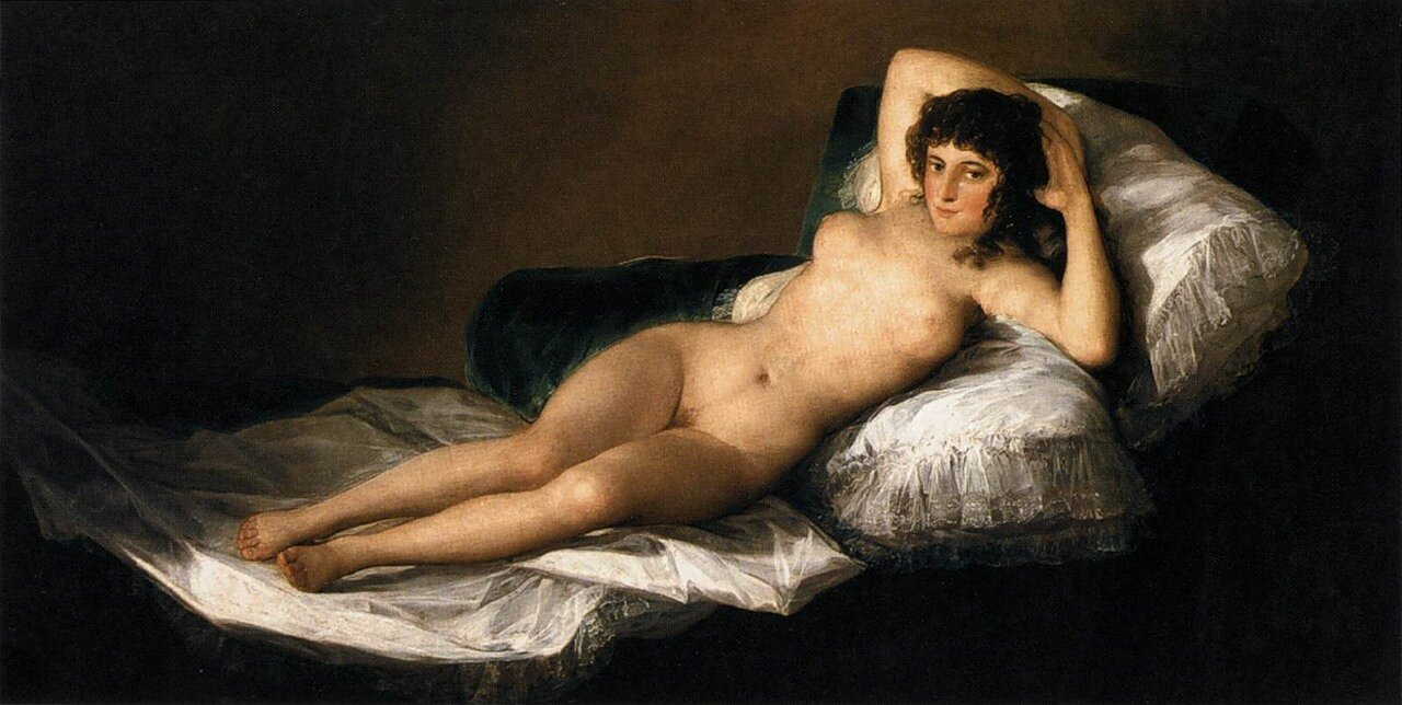 Гойя, Маха обнажённая. (1799-1800)