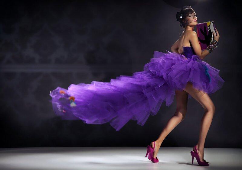 Красивое платье фиолетовое 5