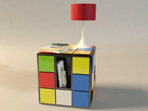 Оригинальный столик - кубик Рубика