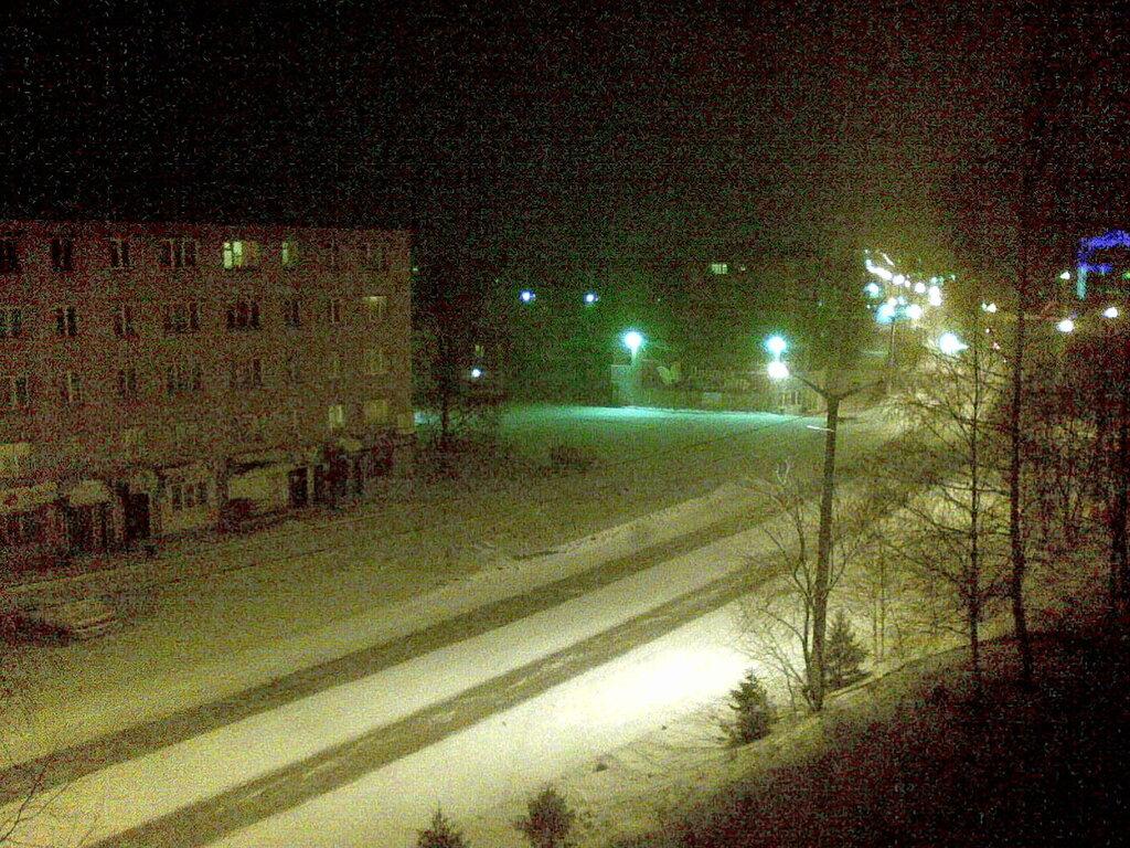 Город Златоуст. Снег