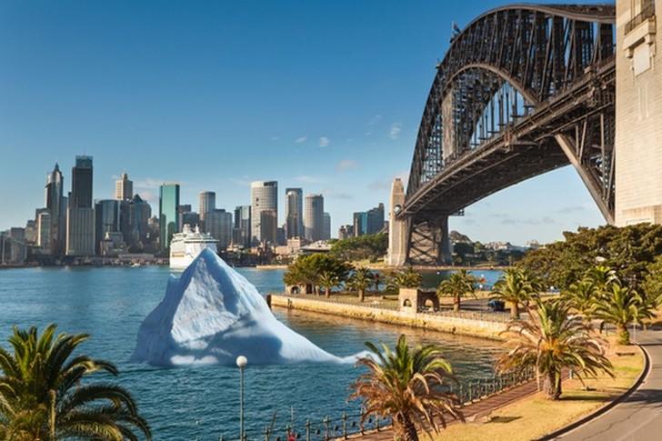 2. Айсберг в сиднейской гавани 1 апреля 1978 года жители австралийского Сиднея с удивлением обнаружи