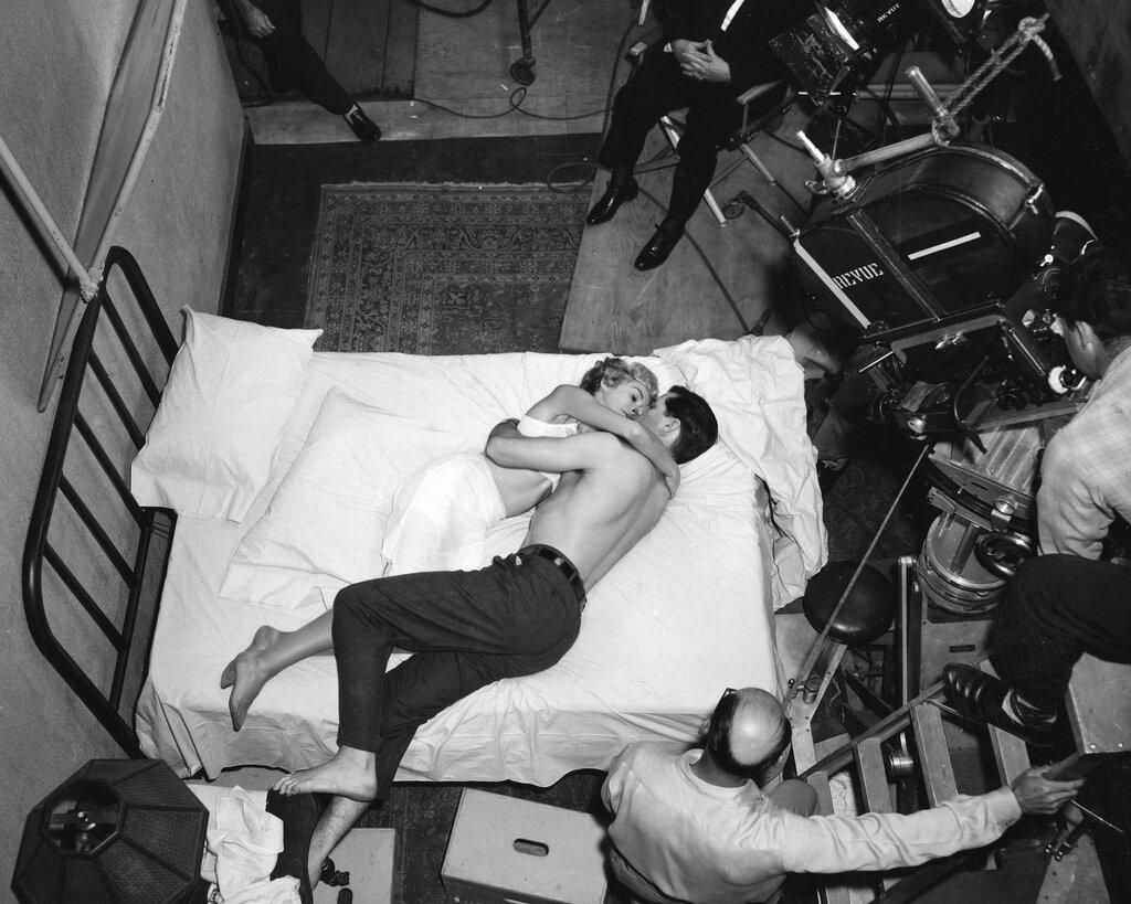 1960. На съемках фильма «Психо»