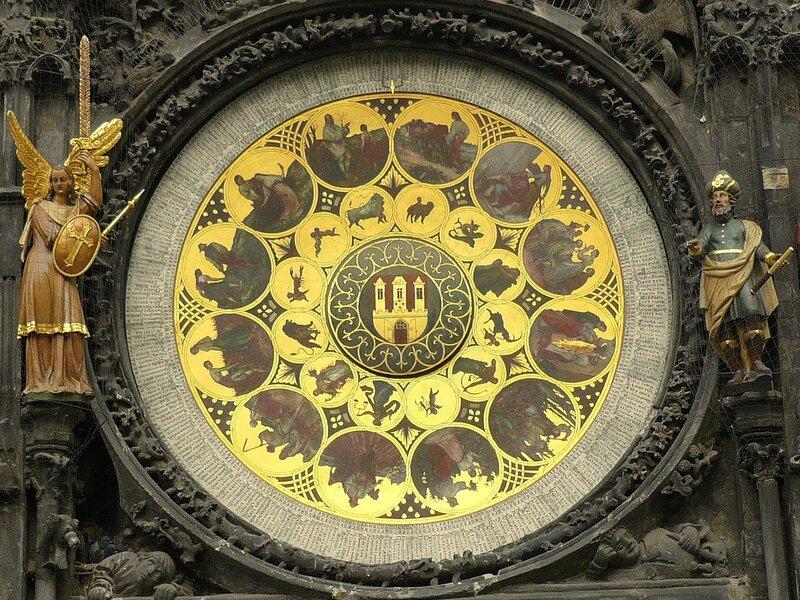 Фрагмент астрономических часов. Прага.