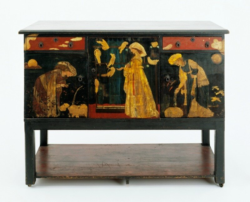 'Ladies and Animals' Sideboard Edward Burne-Jones
