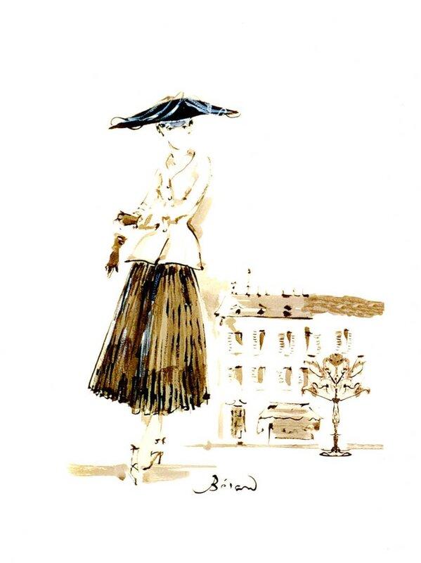 Иллюстратор Кристиан Берар. Из коллекции Музея Кристиана Диора, Гранвиль. 632a0c4ef91
