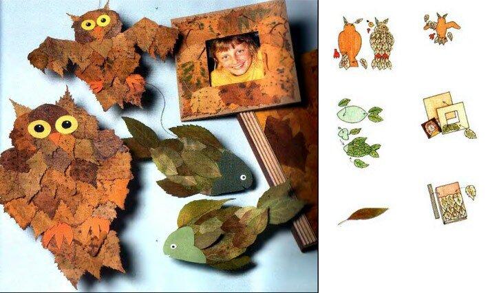 Осенние поделки с детьми. детские картинки для оформления стенгазеты.