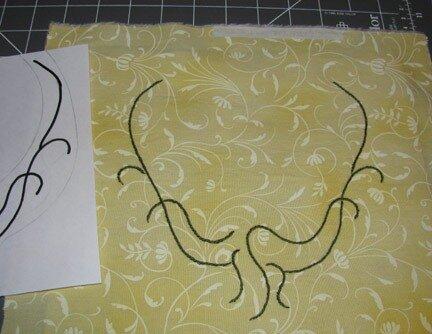 Колье с вышивкой