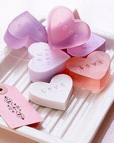 Мыло в форме сердца