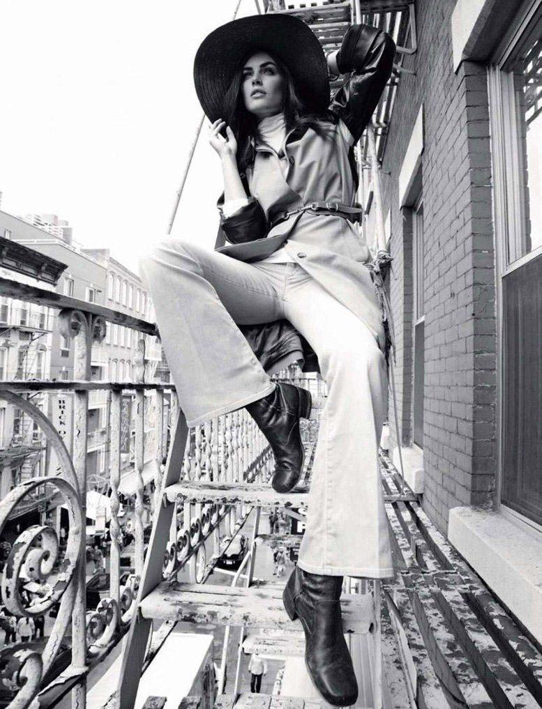 модель Хилари Рода / Hilary Rhoda, фотограф Alan Gelati