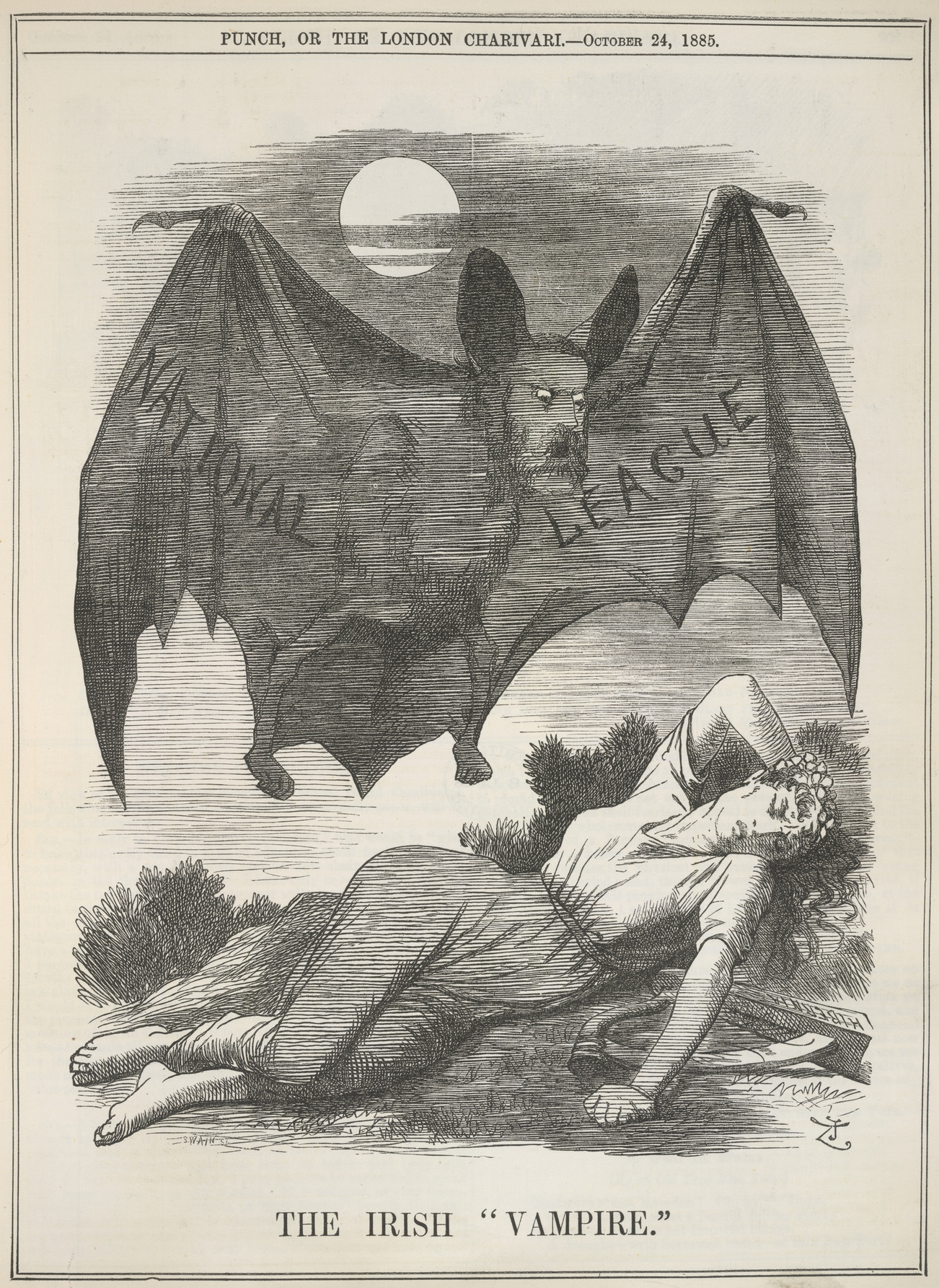 Punch, or the London Charivari. - caption: 'The Irish Vampire'