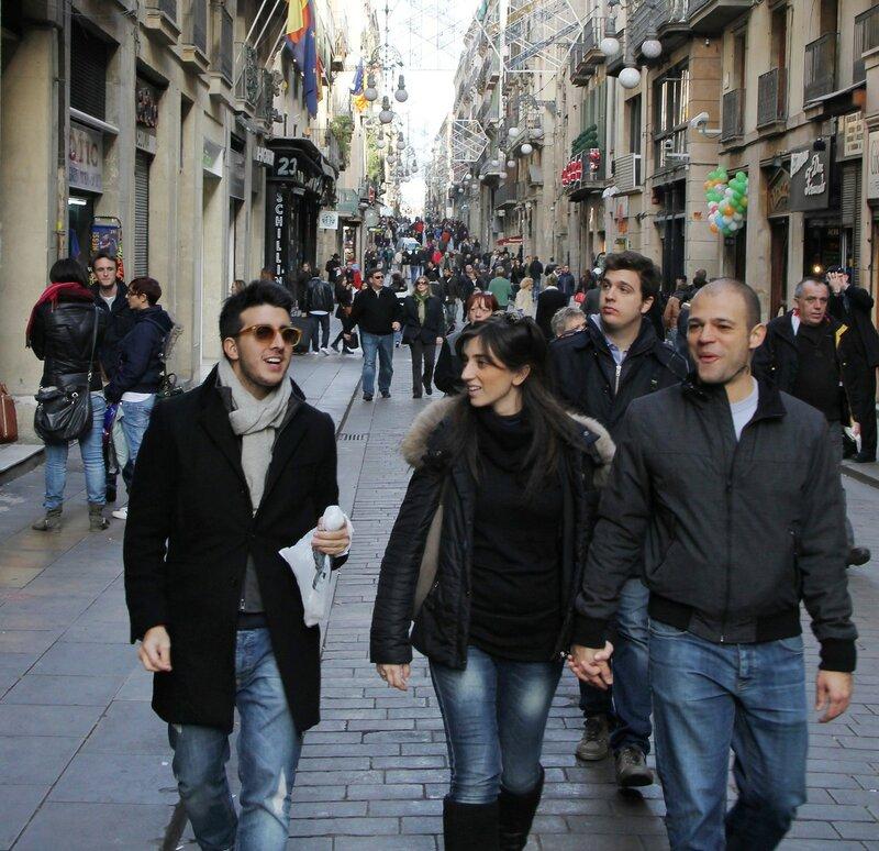 Барселона. Улица Ферран (Carrer de Ferran)