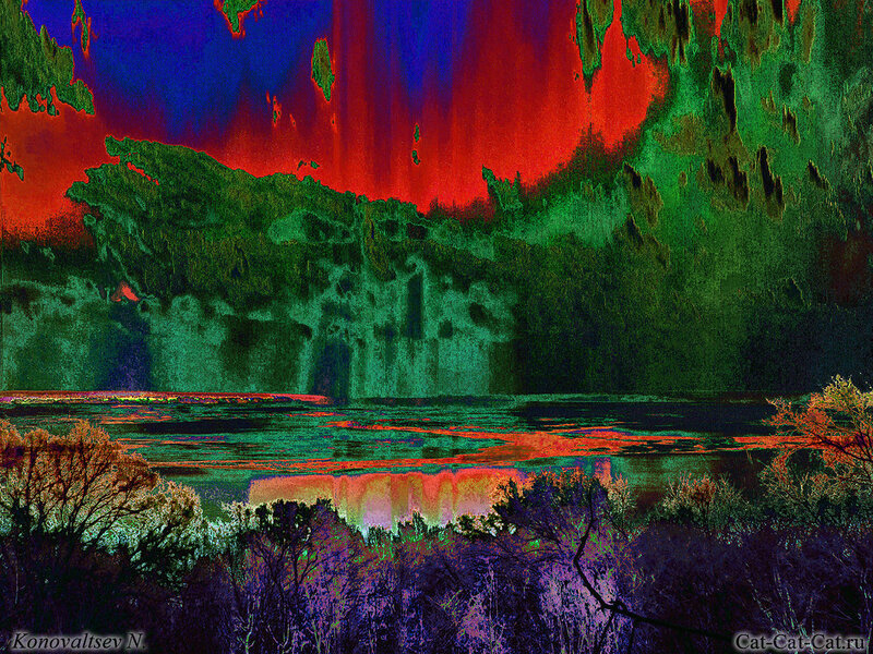 Волга, фотоэксперименты в фотошопе