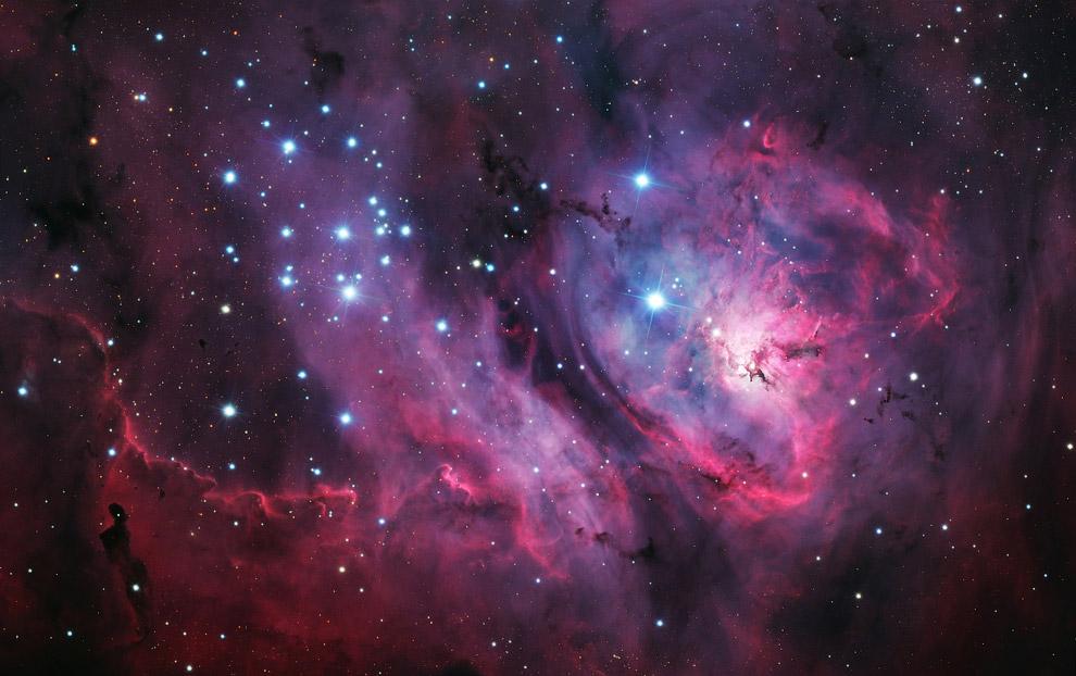 8. Туманность IC 443, также известная под названием Туманность Медузы, представляет собой остат