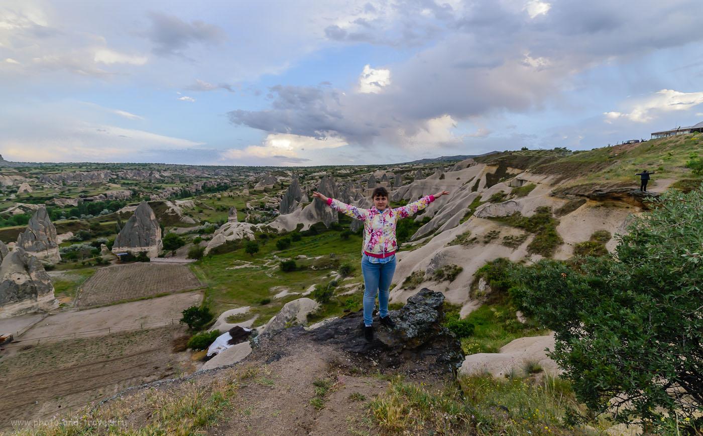 Фото 17. «Полет» над Каппадокией. Виды со смотровой площадки в Гёреме. Отдых в Турции самостоятельно. 1/200, -1.67, 8.0, 1000, 14.