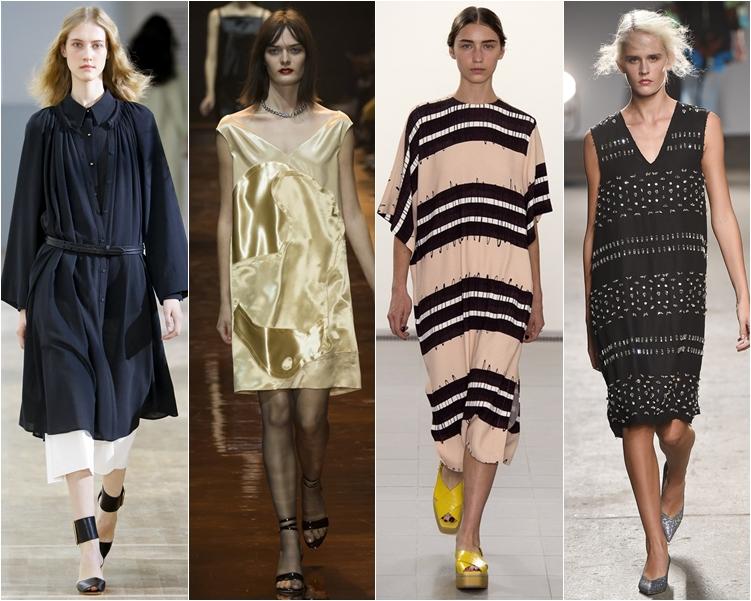 Модные широкие платья фото