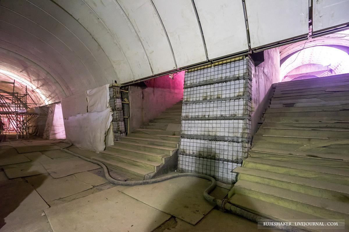 панорамная съемка схема станции метро новослободская
