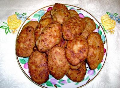 Картофельно-мясные котлеты