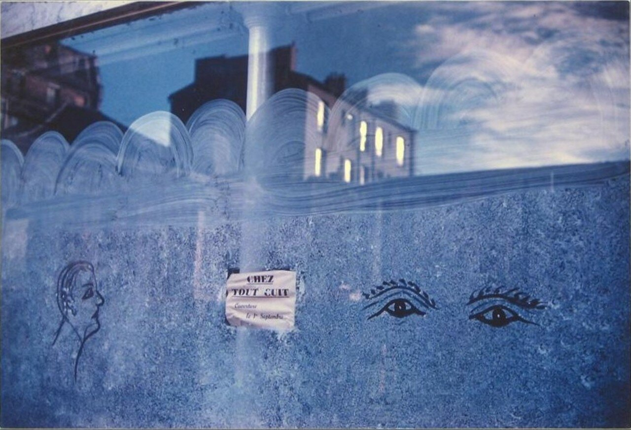 1958. Витрина с плакатом