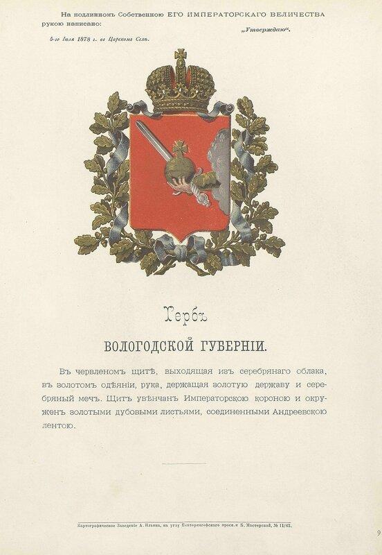 Вологодская губерния 1880 год