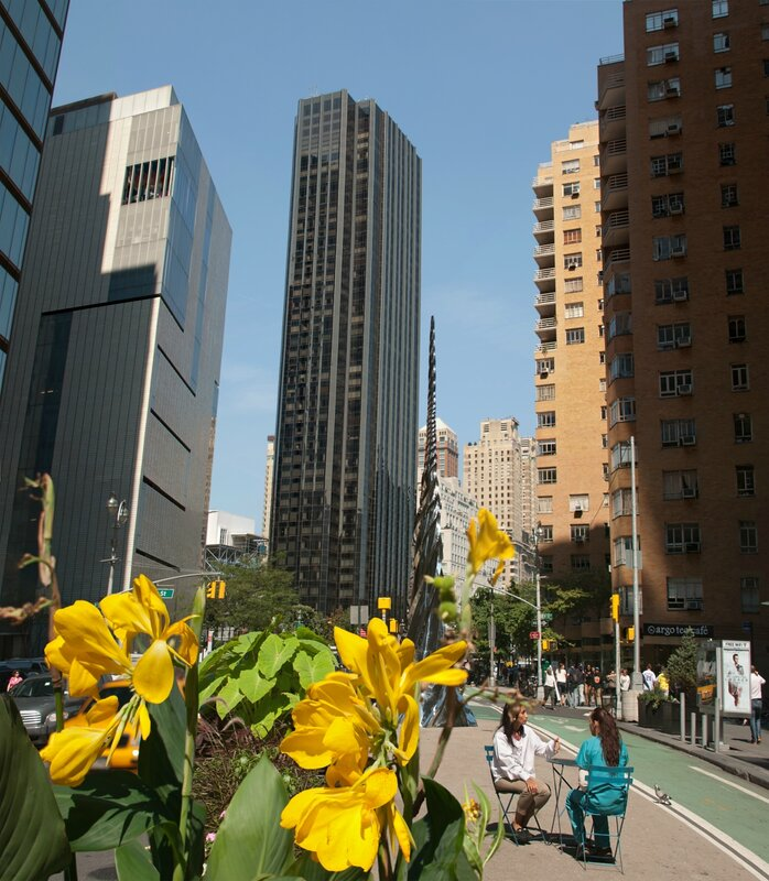Trump International Hotel view from Broadway, New York, USA, September 2012