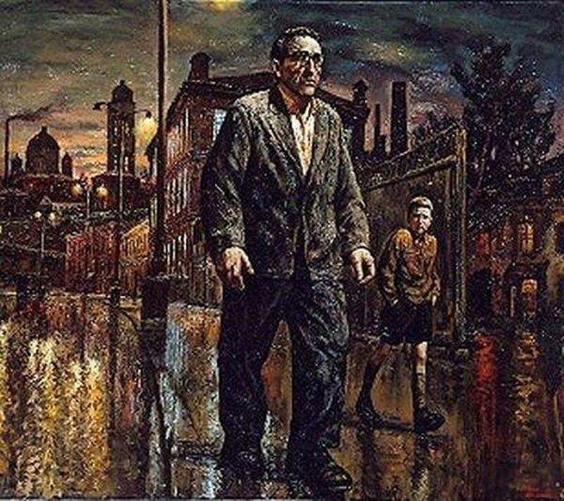 Прогулки с отцом по ночной Москве. 2005, Шульженко Василий Владимирович (1949-)