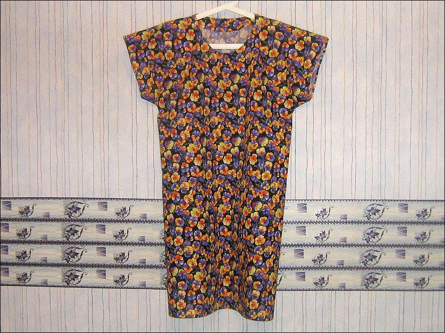 Простая выкройка для платья из шифона