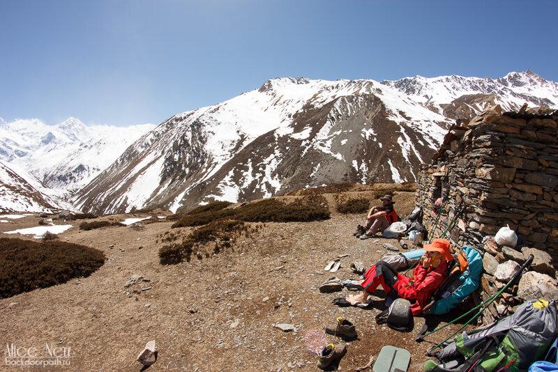 горы, непал, гималаи, человек в горах