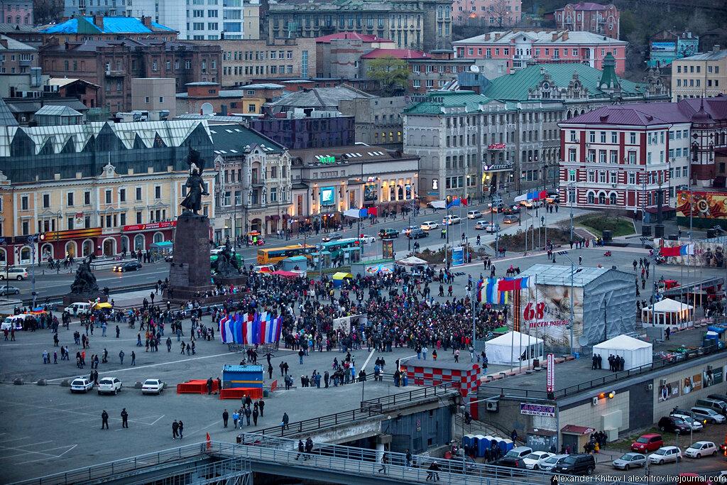 шумные, непоседливые фото центральной площади города владивостока самый большой