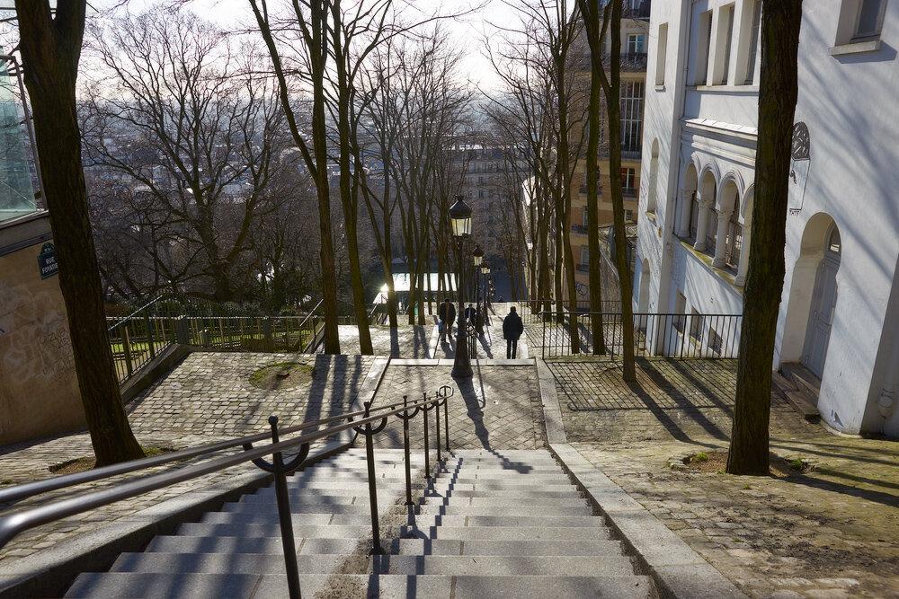 На лестнице Монмартра