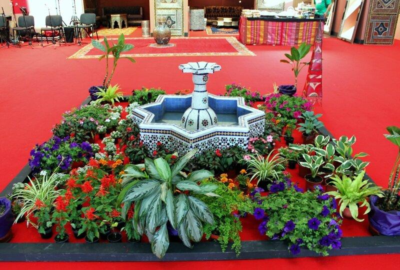 Оазис на выставке Марокко