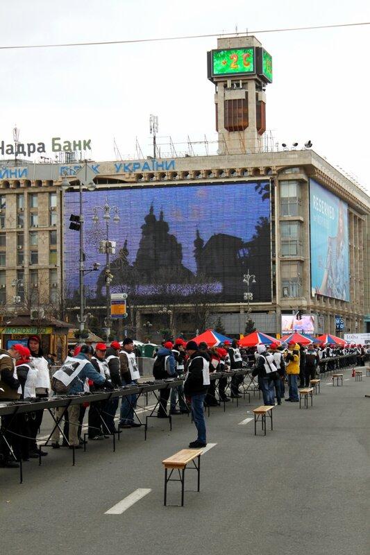Рекордный мангал на Майдане Незалежности
