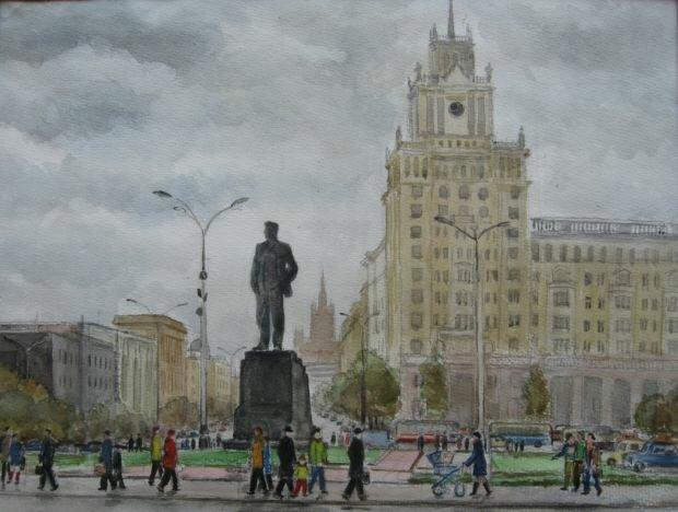 Лавр Иванович Тараканов. Памятник Маяковскому, 1978.