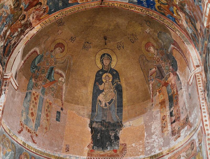Мозаика на конхе собора Рождества Богородицы в Гелати (1125-1130 гг.)