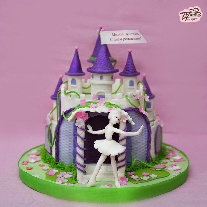 Тортики ко дню рождения своими руками   Торт украшенный мастикой очень необычно оформить 5