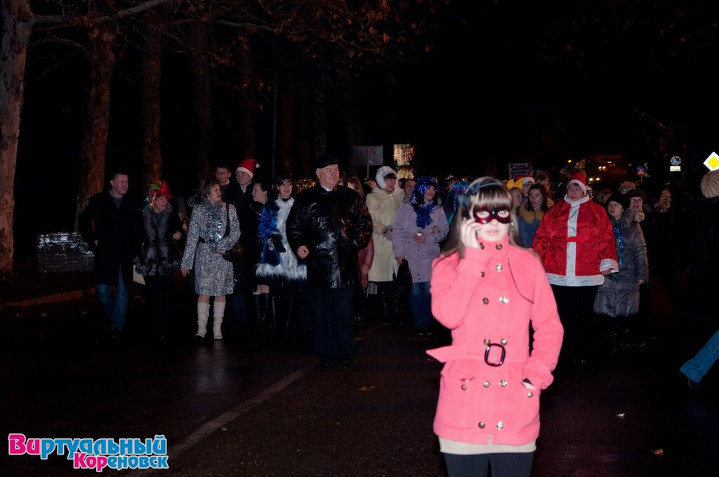 Открытие главной ёлки Кореновска 29.12.2012 года. Фото