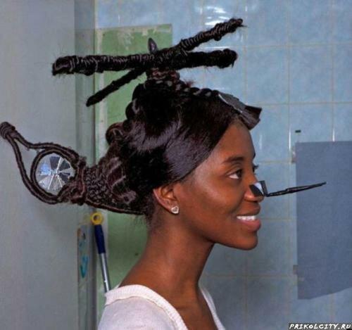 Прикольные женские причёски