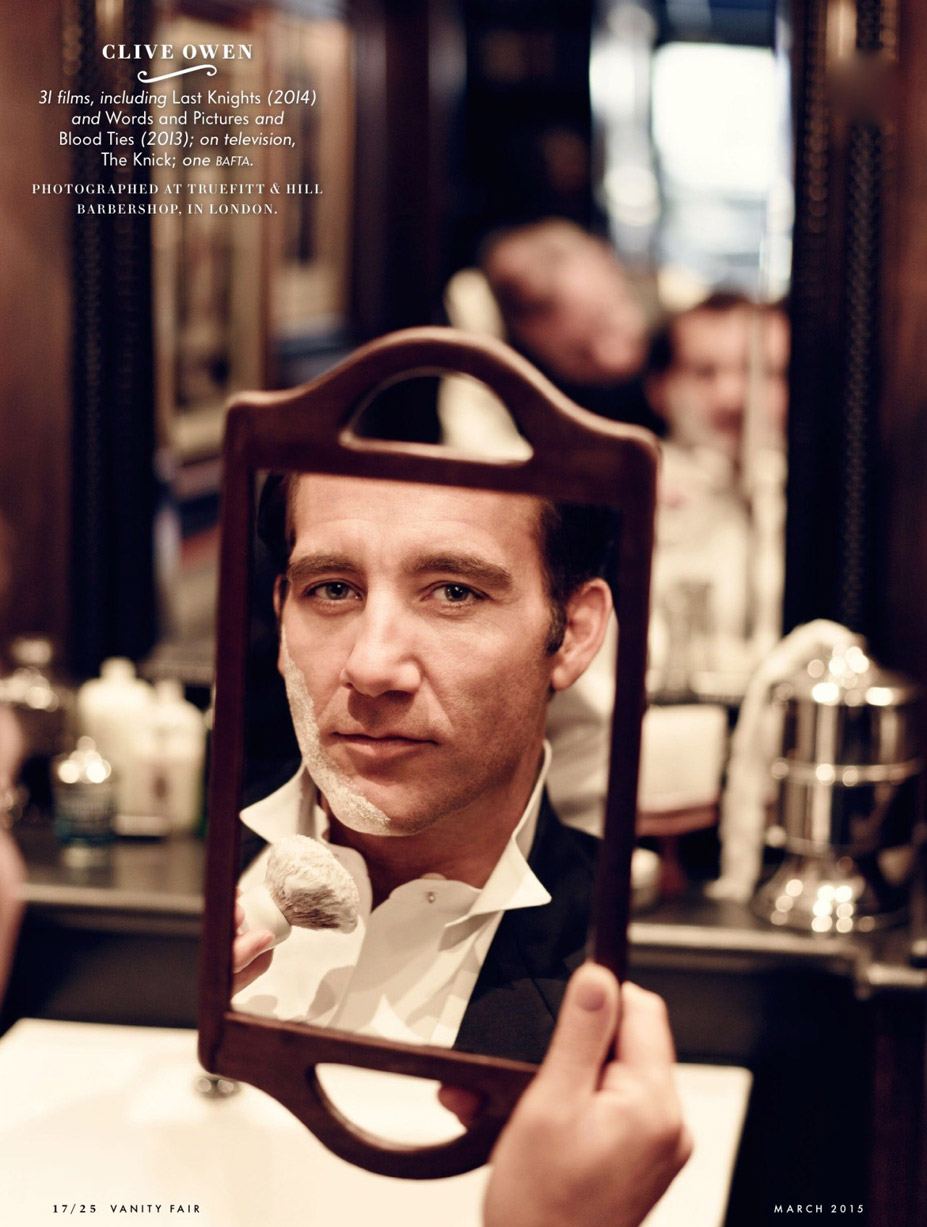Лучшие британские актеры в проекте The 2015 Hollywood Portfolio by Jason Bell in Vanity Fair march 2015 - Клайв Оуэн / Clive Owen